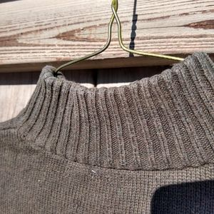 Chaps Sweaters - Chaps Olive Green 1/4 Zip Sweater